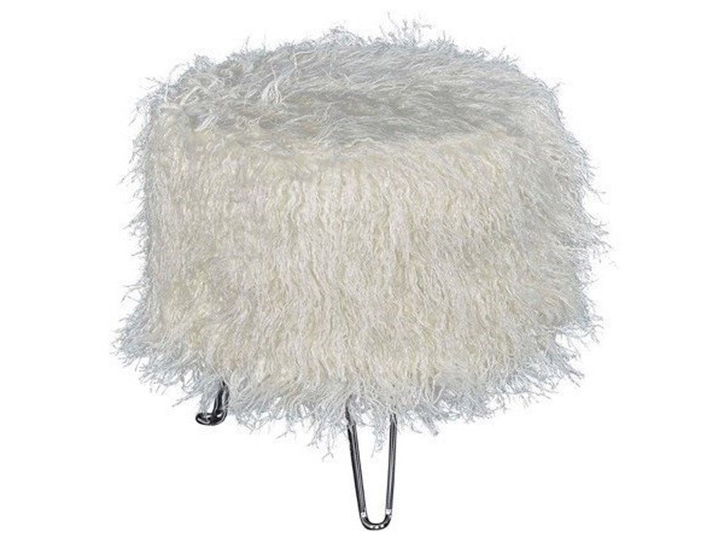 Powell Accent FurnitureFaux Fur Ottoman