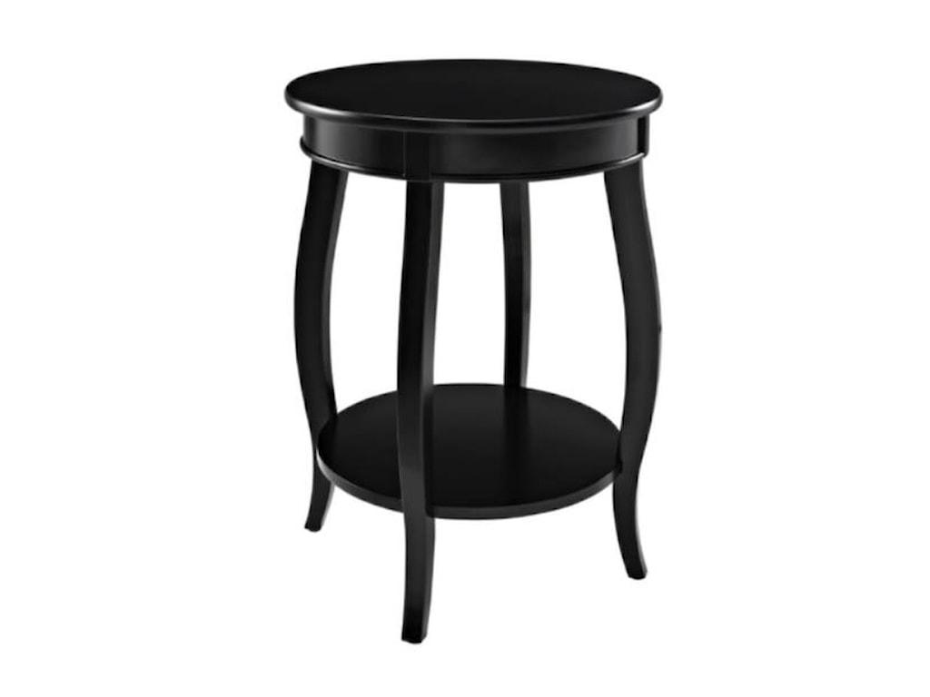 Powell Accent TablesRound Table w/ Shelf