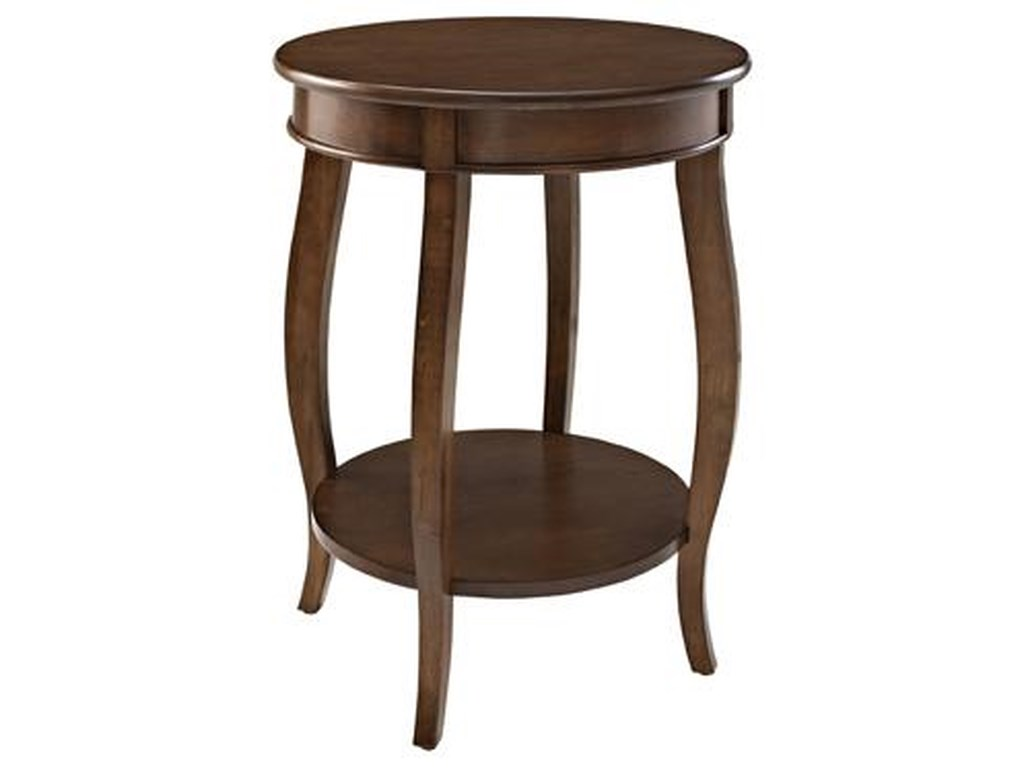 Powell Accent TablesRound Table w/ Shelf