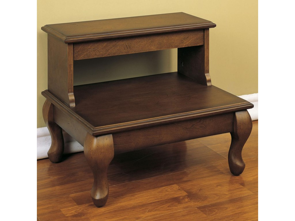 Powell Antique CherryBed Steps with Drawer