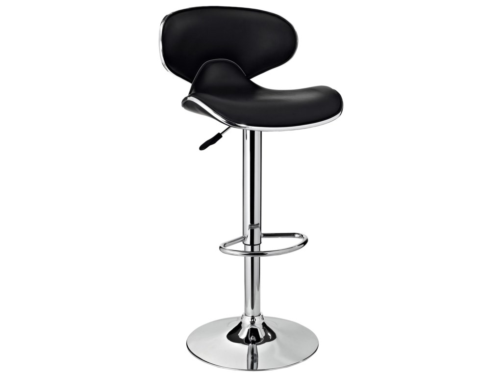Powell Bar Stools & TablesChrome and Black PU Barstool