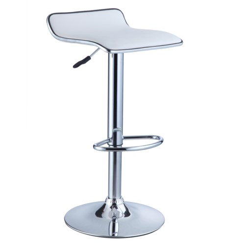 Powell Misc Bars Amp Game Room White Faux Leather Thin Seat