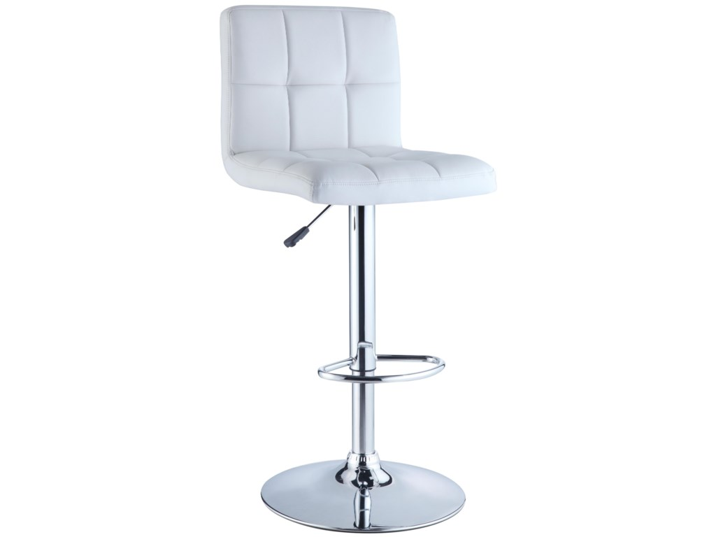 Powell Misc. Bars & Game RoomWhite Quilted Bar Stool