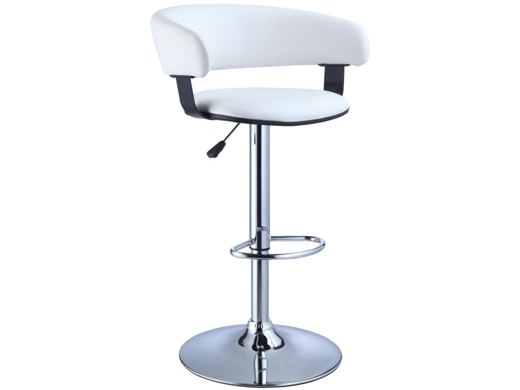 Powell Misc. Bars & Game RoomBarrel & Chrome Bar Stool