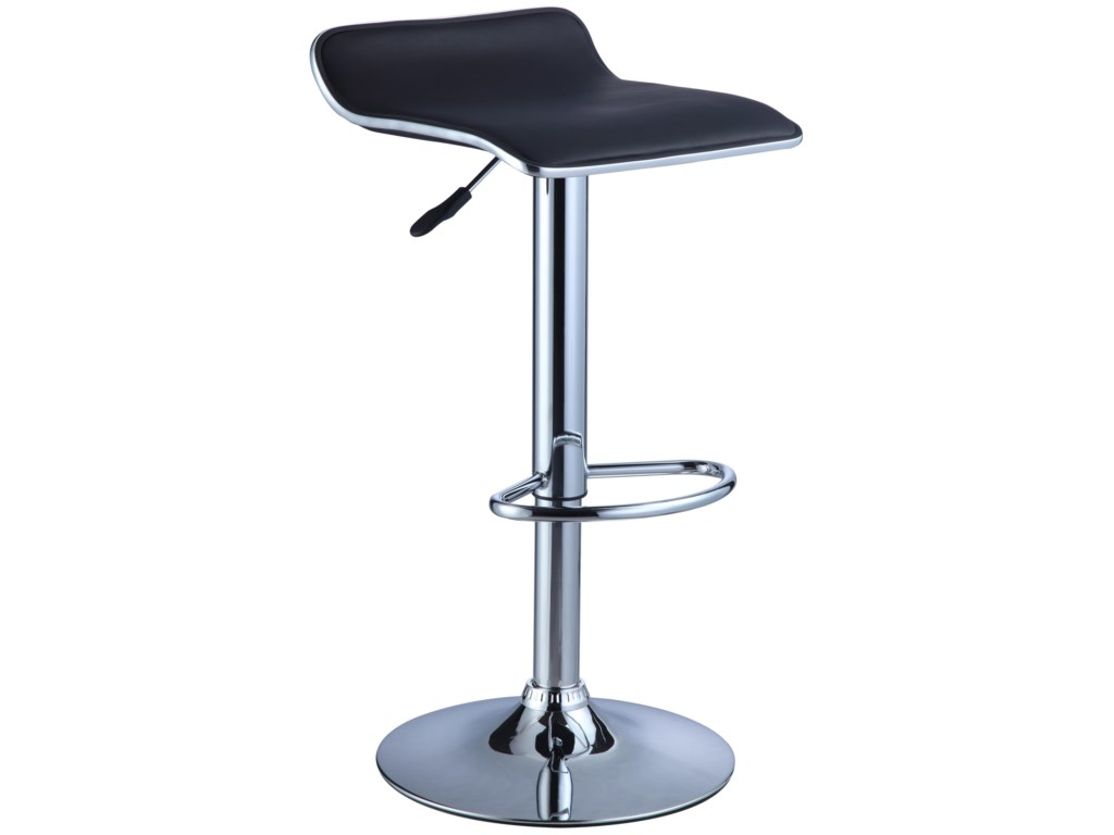 Powell Misc. Bars & Game RoomBlack Faux Leather Bar Stool