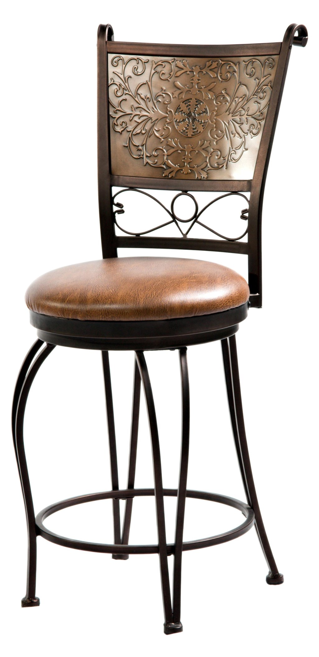 Powell Bar Stools Tables 24 Inch Bronze With Muted Copper Stamped