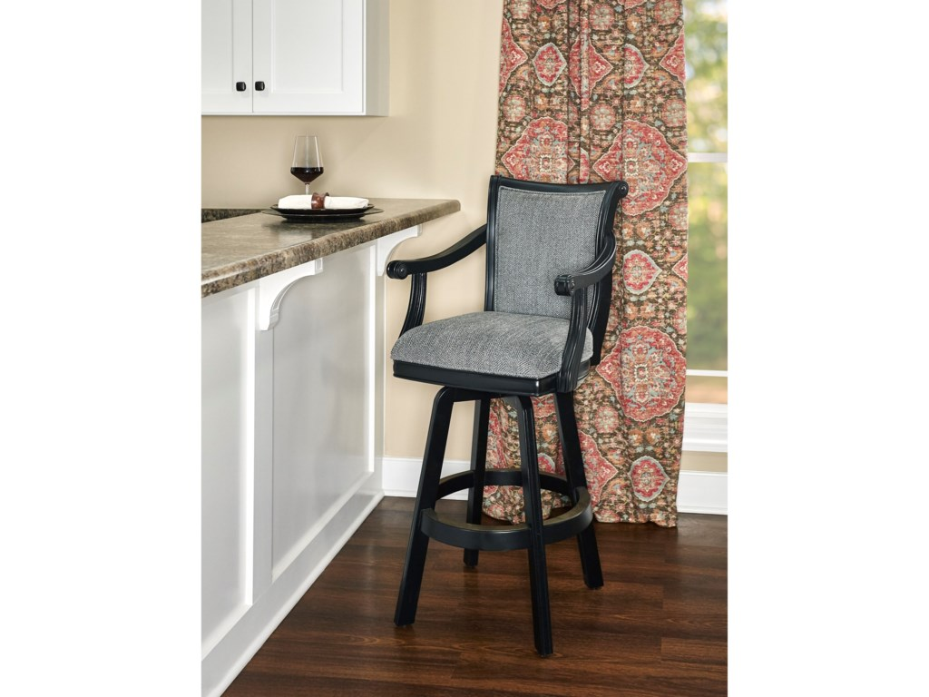 Powell Bar Stools & TablesRonan Swivel Barstool Black