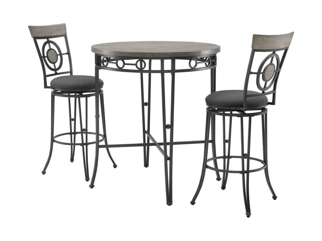 Powell Barker3-Piece Pub Table and Chair Set