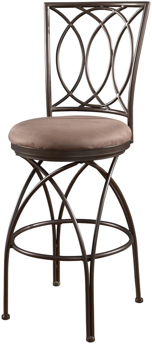 Powell Big and Tall Metal Crossed Legs Bar Stool with Upholstered Seat