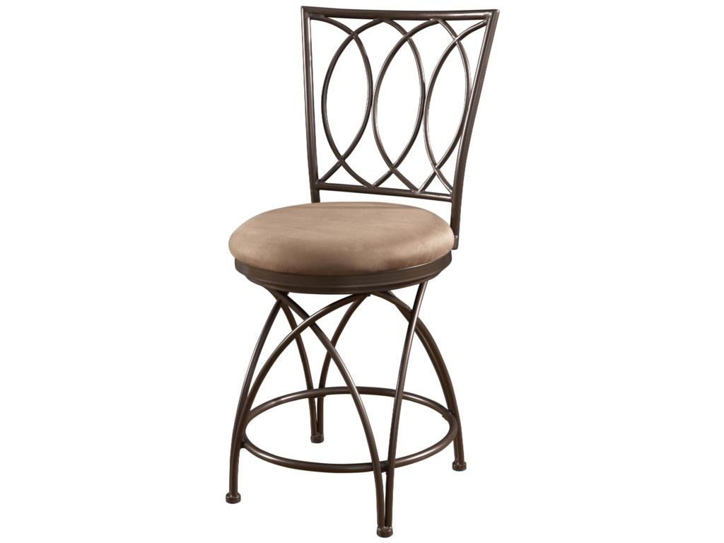 Powell Big and TallMetal Crossed Legs Counter Stool