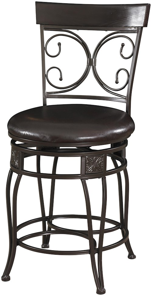 Powell Big and Tall Back to Back Scroll Counter Stool
