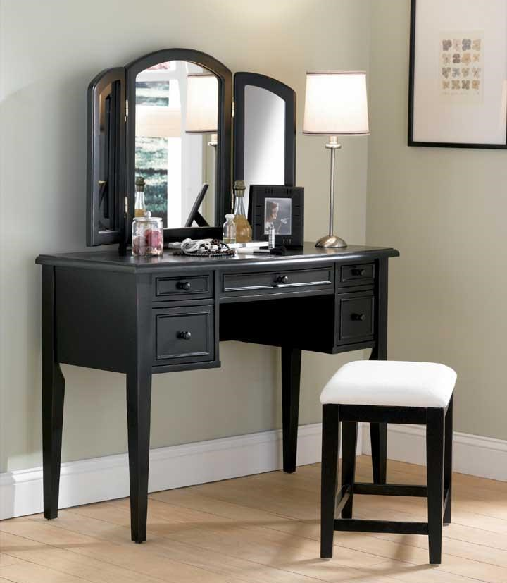 black bedroom vanity dresser with mirror and stool bestdressers 2017 10855