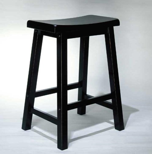 Powell Black 24 Inch Counter Stool Wayside Furniture