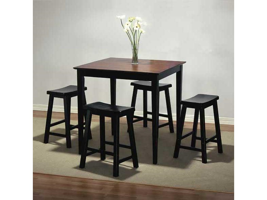 Powell BlackBar Stool