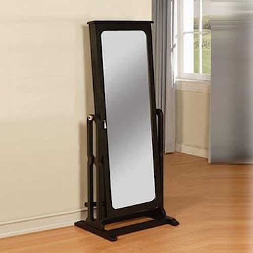Powell Black Cheval Wardrobe Mirror