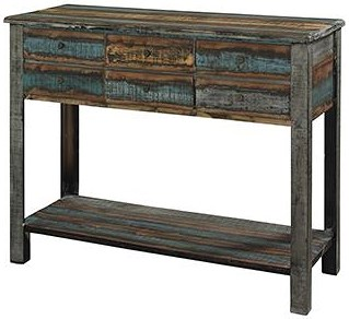 Powell Calypso Distressed Console Table