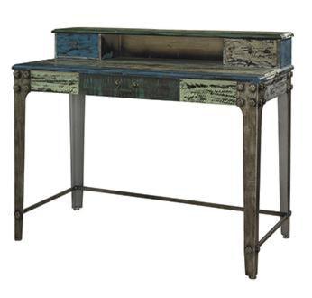 Powell Calypso Industrail Wood Metal Desk