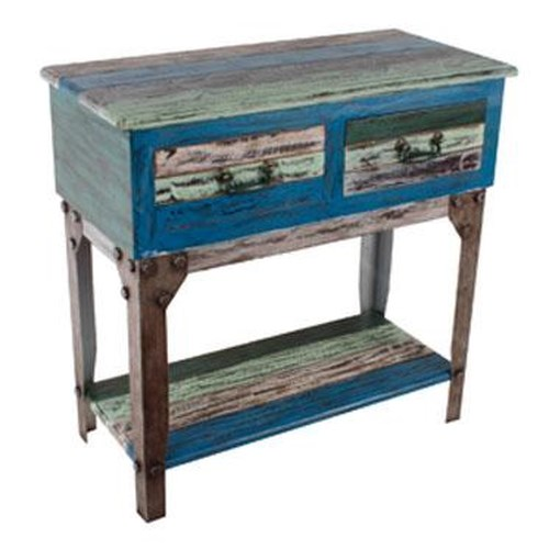 Powell Calypso Small Hall Table w/ 2 Drawers