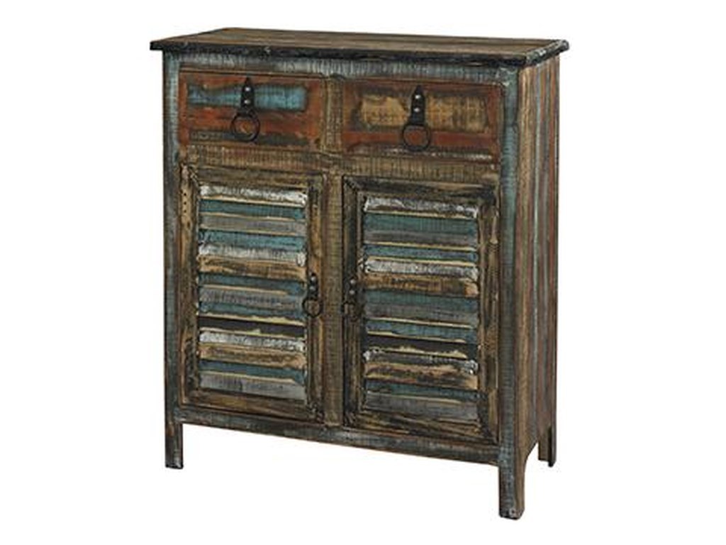 Powell Calypso2-Drawer 2-Door Console