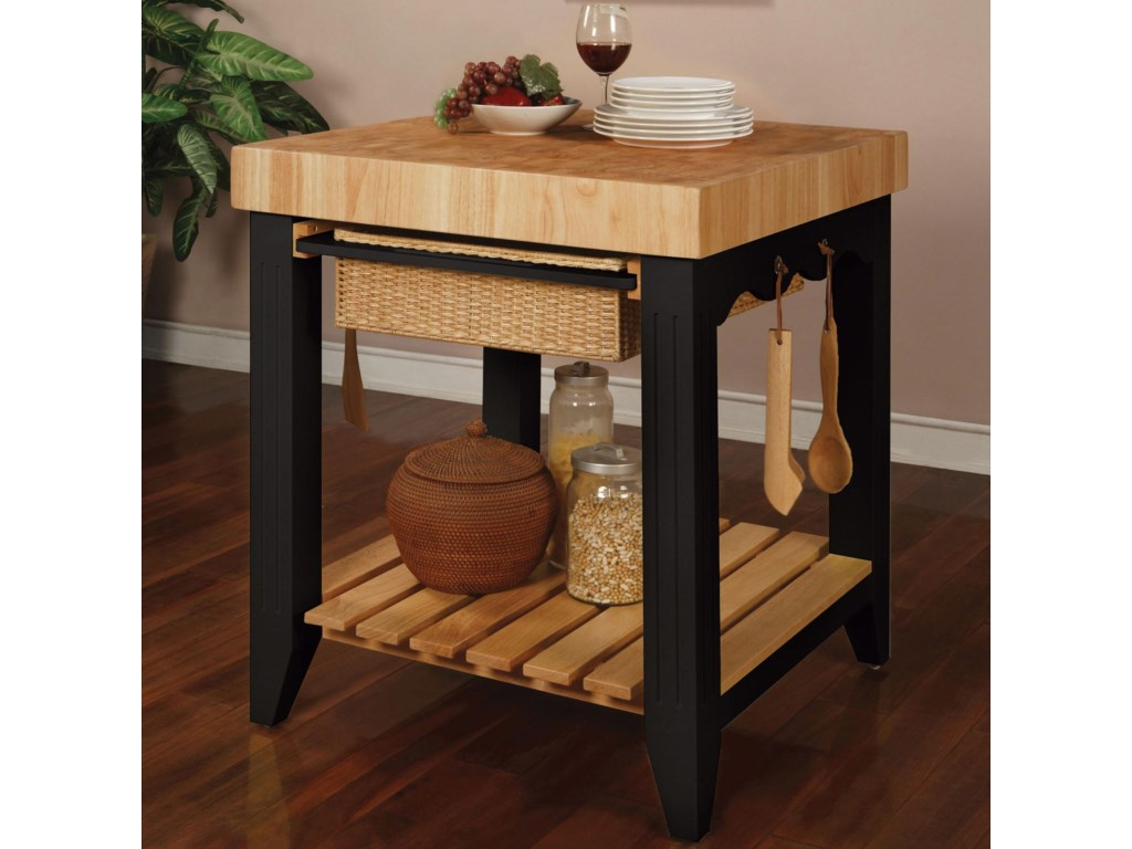 Powell Color StoryButcher Block Kitchen Island