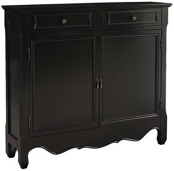 Powell Consoles  Black 2-Door Console with Curved Bottom