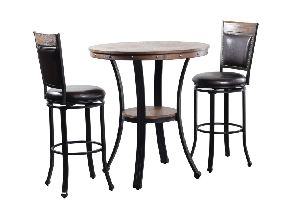 Powell Franklin3 Piece Pub Table Set