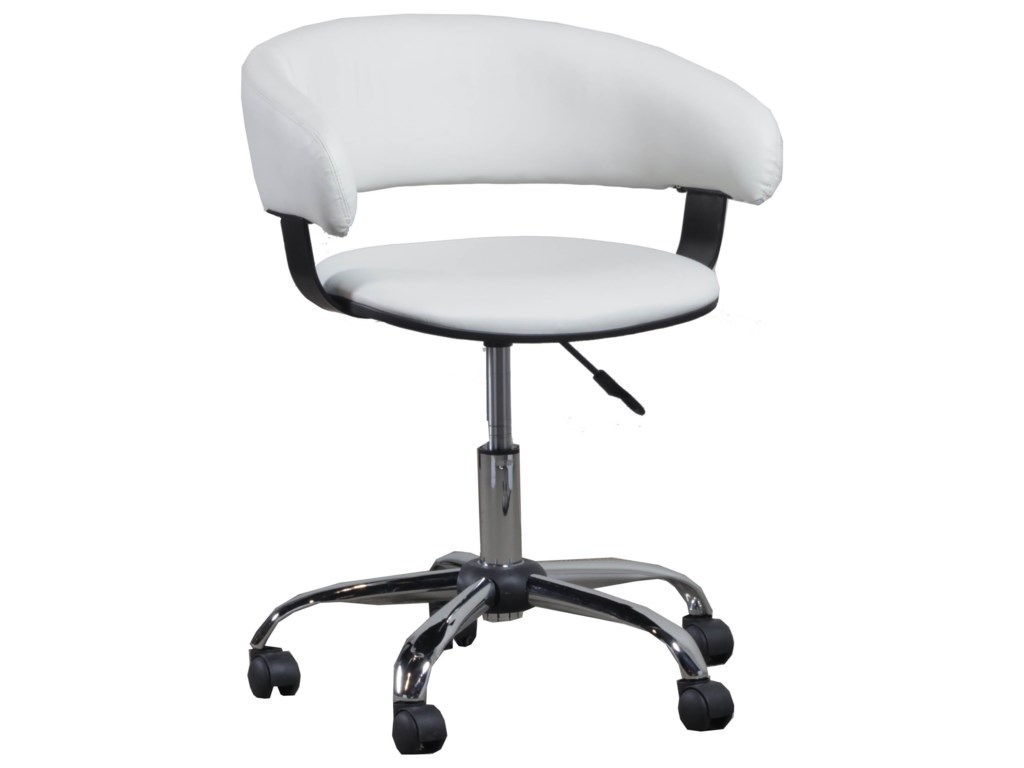 Powell Home OfficeWhite Gas Lift Desk Chair