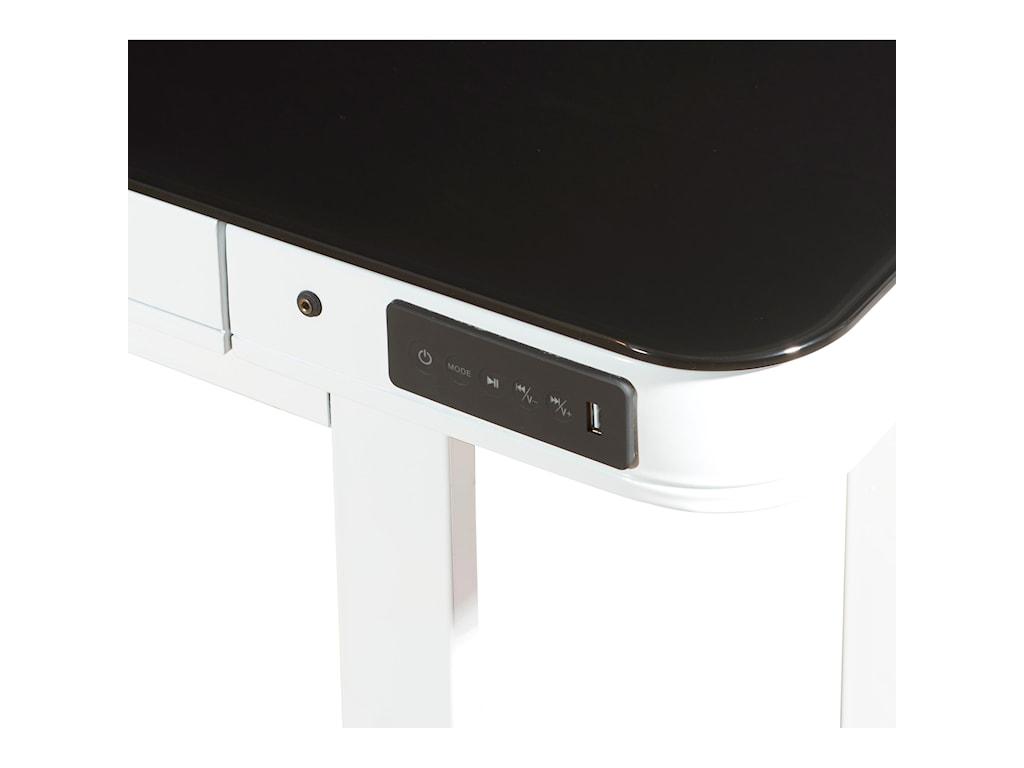 Powell Lynk WhiteLynk Convertible Standing Desk