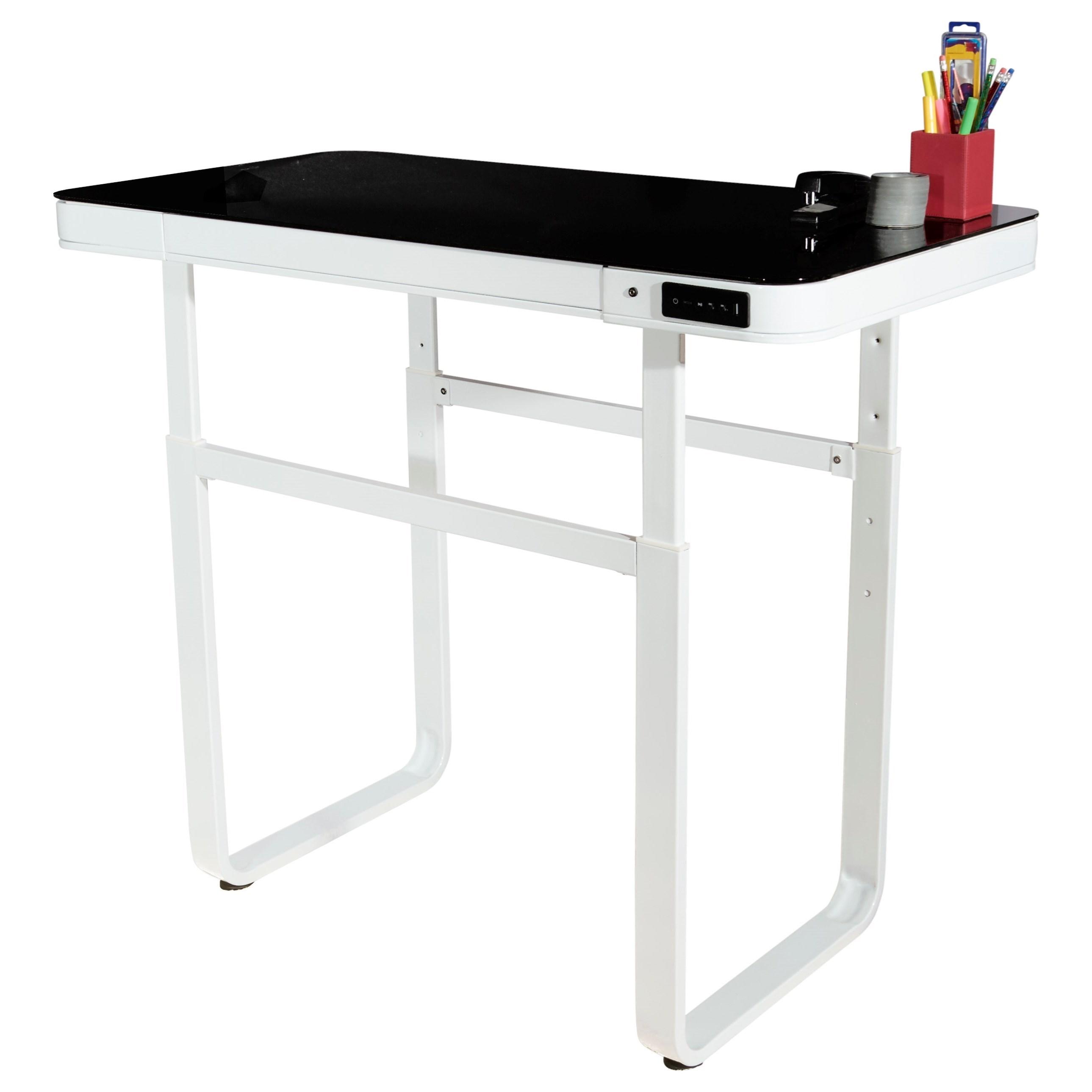 ... Powell Lynk WhiteLynk Convertible Standing Desk ...