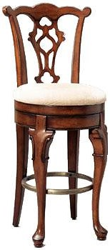 Powell Jamestown Landing 30.75 inch swivel armless stool with high back
