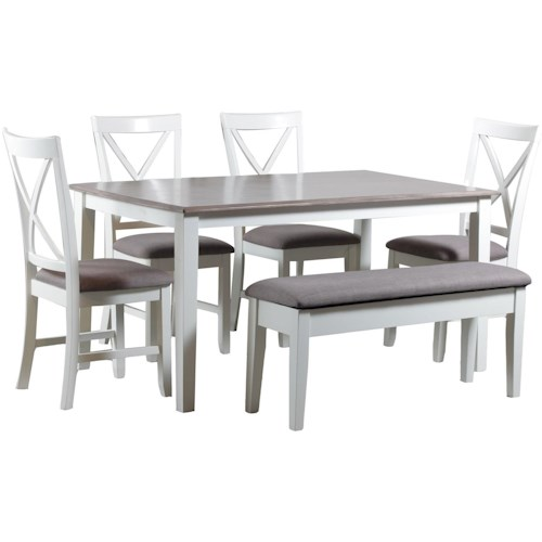 Powell Jane Jane 6pc Dining Set