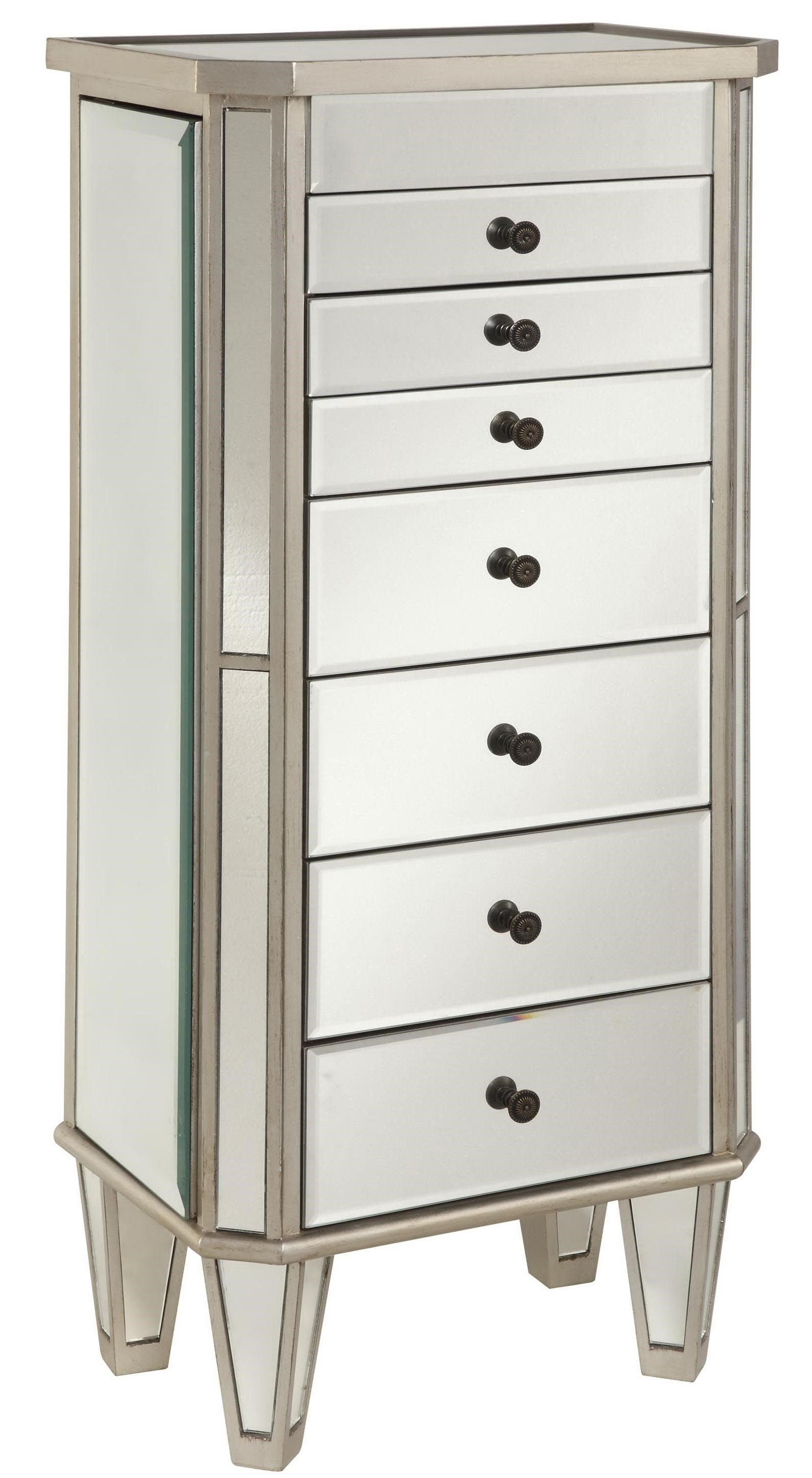 Powell Jewelry Armoire Silver Painted Jewelry Armoire With Mirror