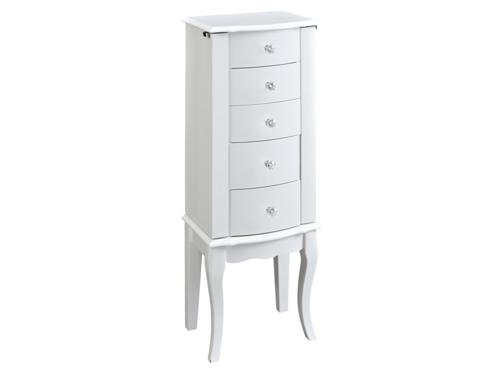 Powell jewelry armoire 5 drawer white jewelry armoire homeworld jewelry armoire 5 drawer white jewelry armoire by powell solutioingenieria Choice Image