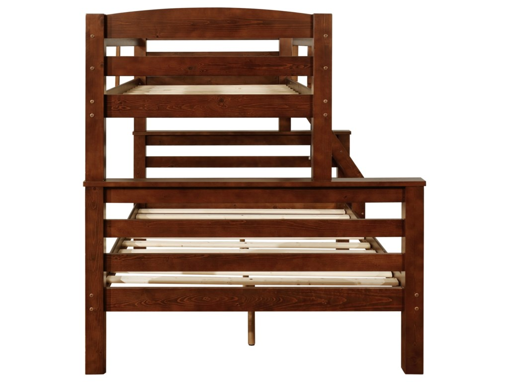 Powell LeviTwin over Full Bunk Bed