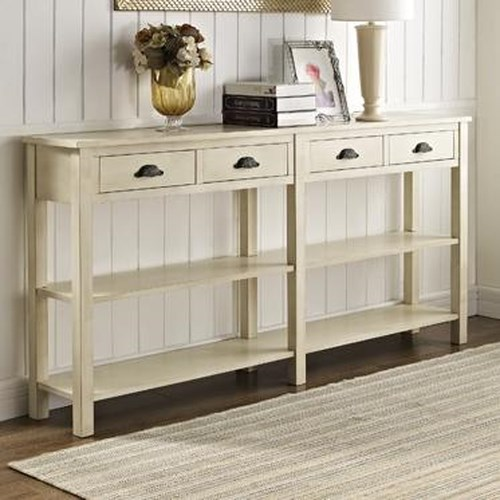 Powell Accents Cream Console w/ Four Drawers