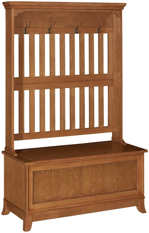 Powell Accents Oakdale Hall Tree with Storage Bench