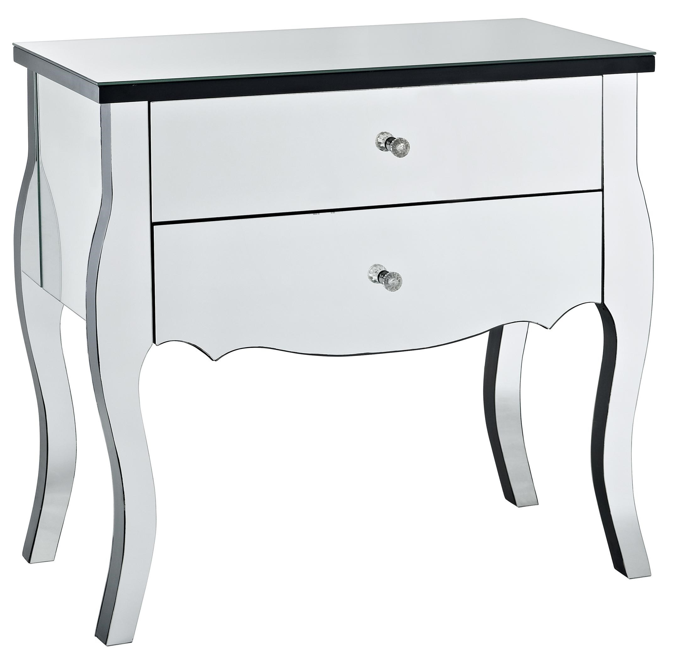 Powell Accents Mirrored 2 Drawer Console