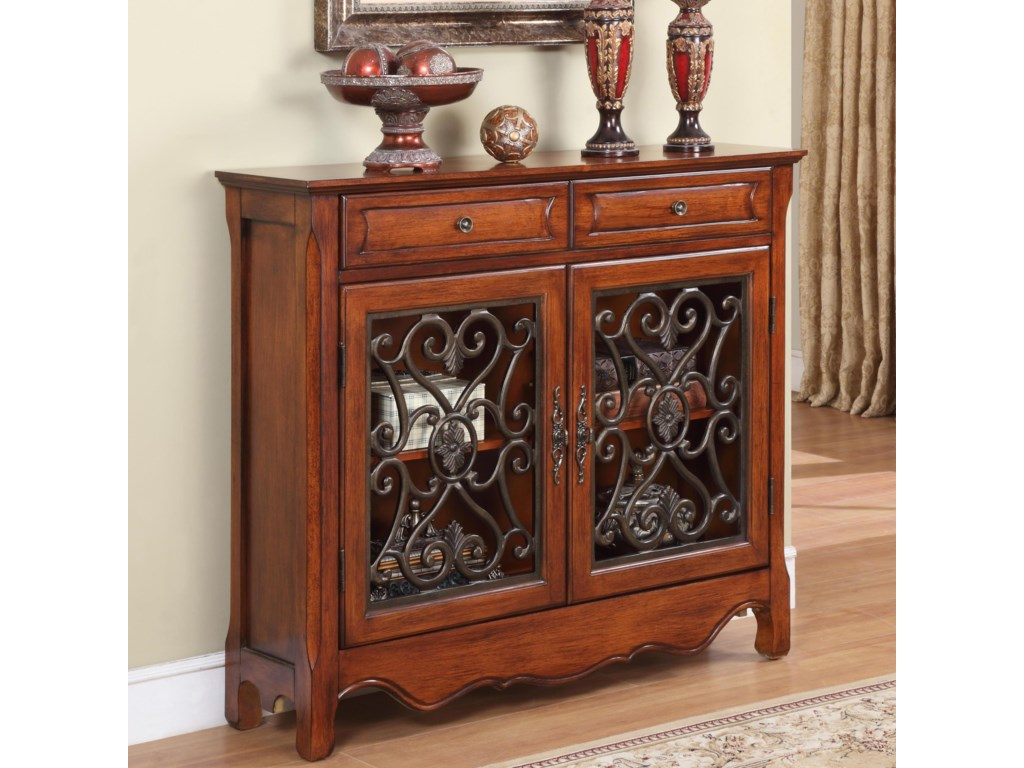 Powell AccentsLight Cherry Console Cabinet