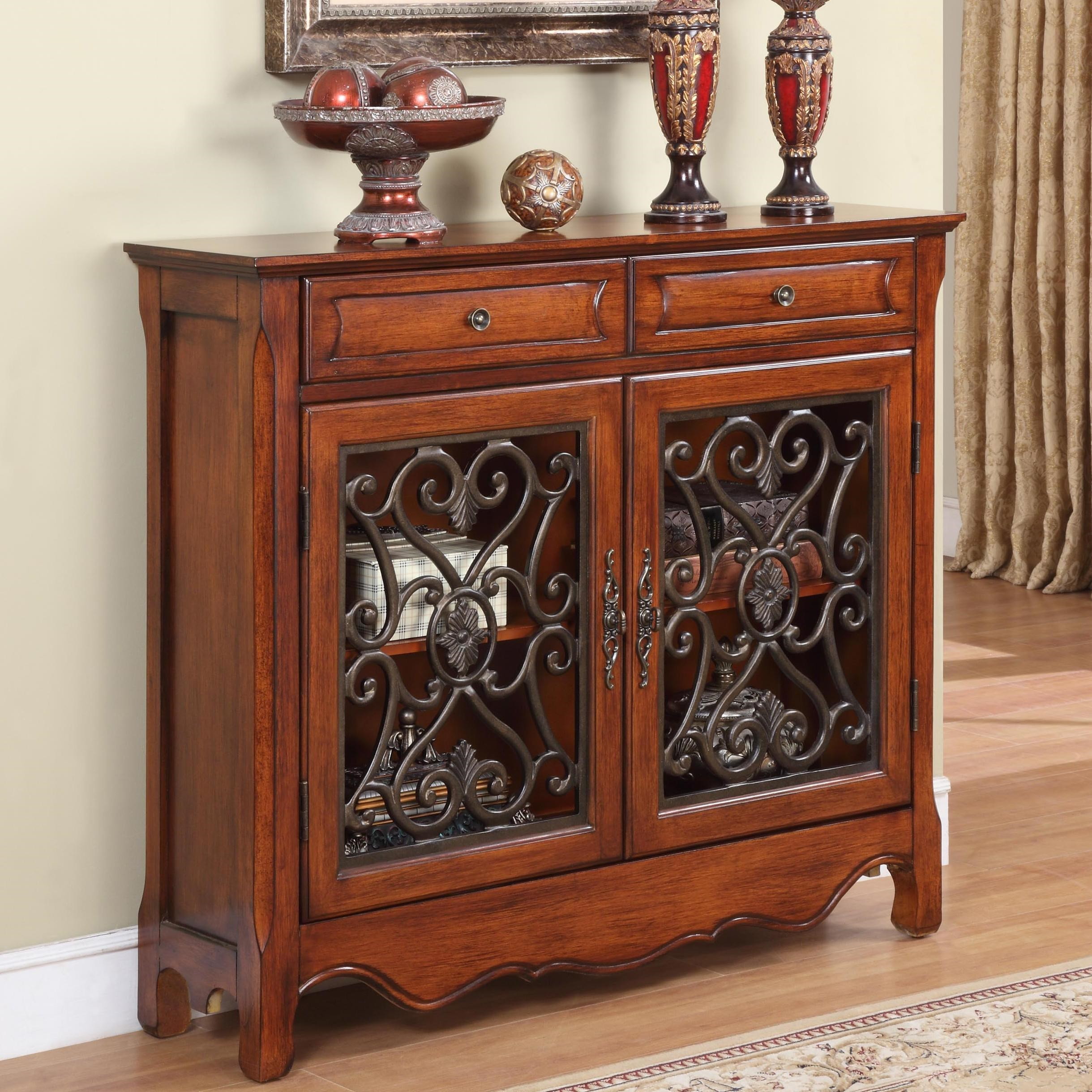 Superbe Powell AccentsLight Cherry Console Cabinet; Powell AccentsLight Cherry Console  Cabinet