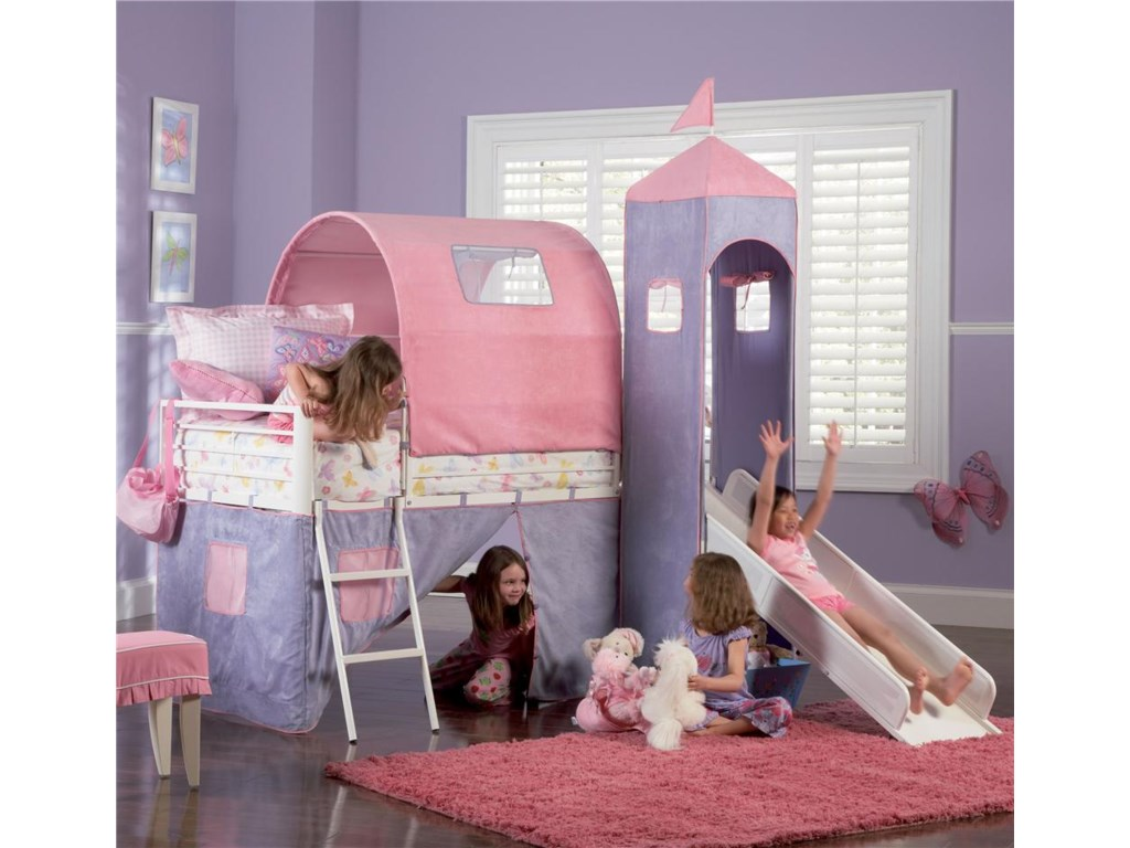 Powell PrincessPrincess Castle Twin Bunk Bed