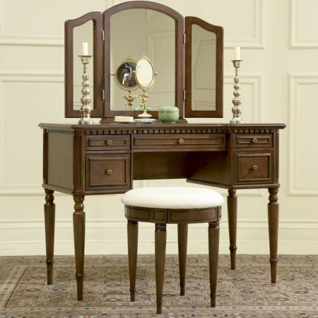 Vanity, Mirror and Stool