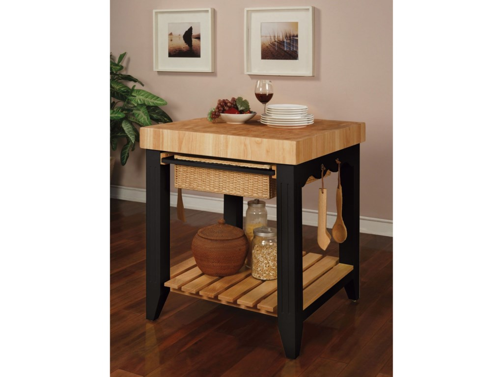 Powell BlackKitchen Island