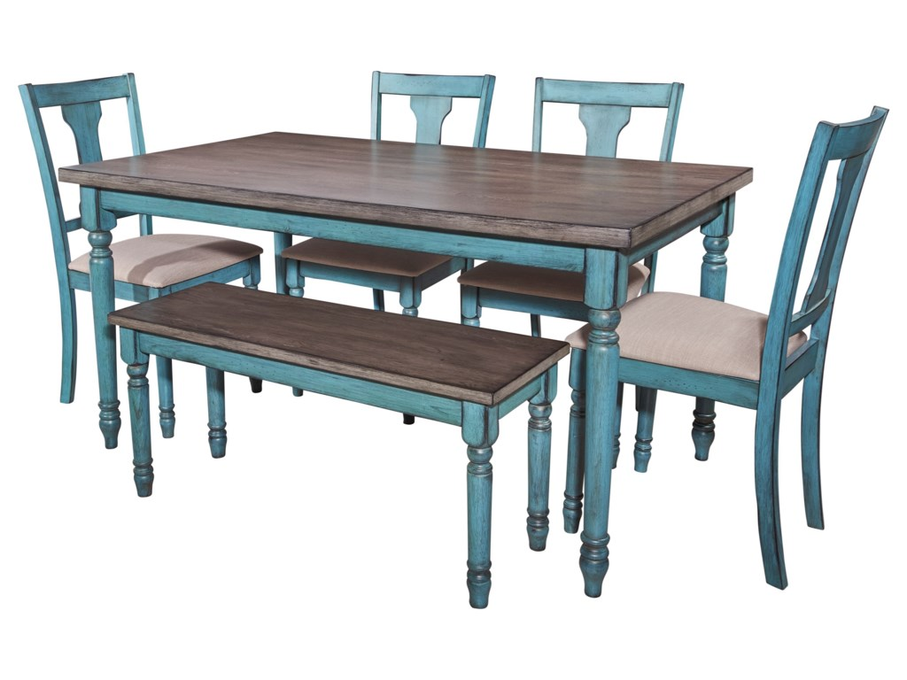 Powell WillowWillow 6 Piece Dining Set