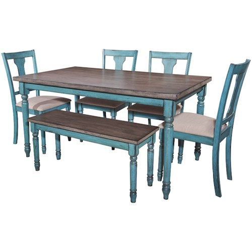 Powell Willow Willow 6 Piece Dining Set