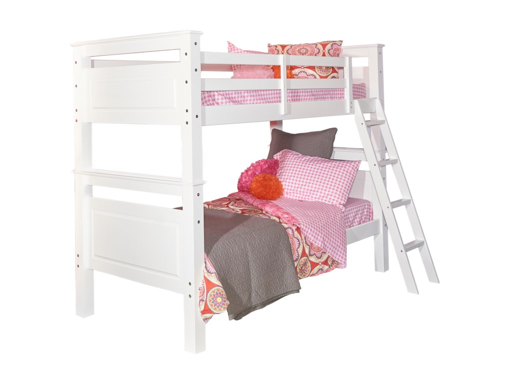 Powell Youth Beds and Bunks Dixon Twin Over Twin Bunk Bed | Olinde\'s ...