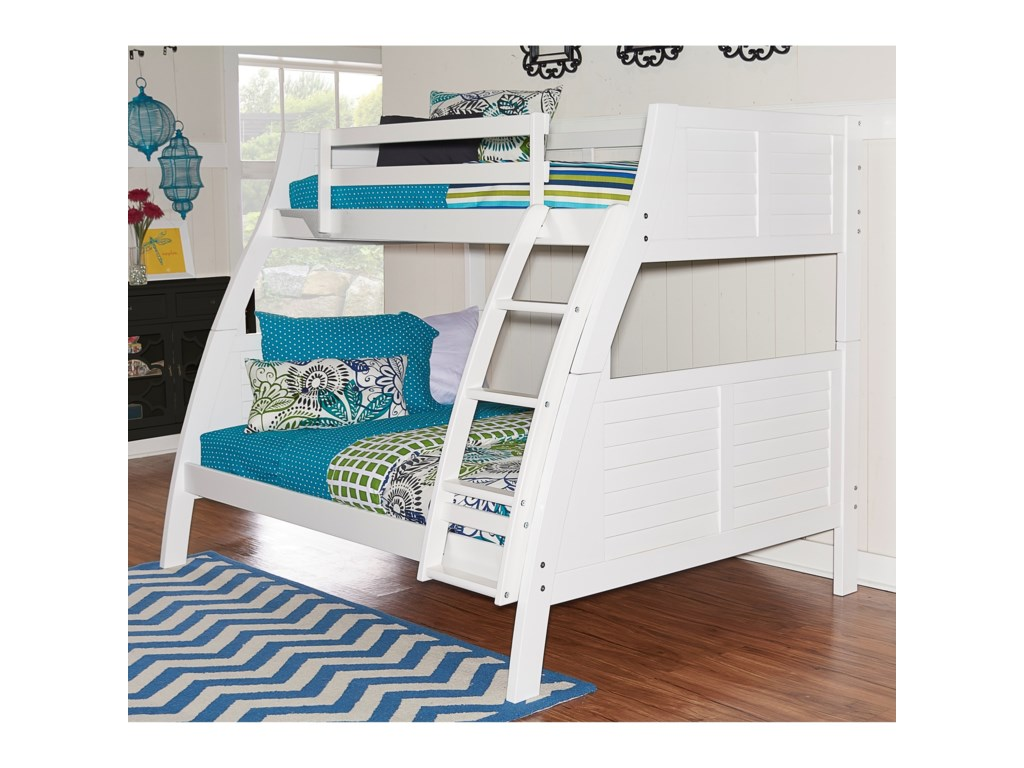 Powell Youth Beds And Bunks 16y8185bbw Easton White Bunk Bed