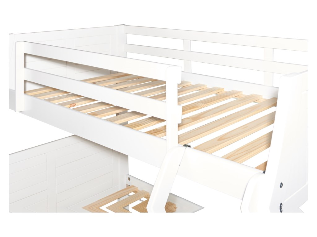 Powell Youth Beds and BunksEaston White Bunk Bed