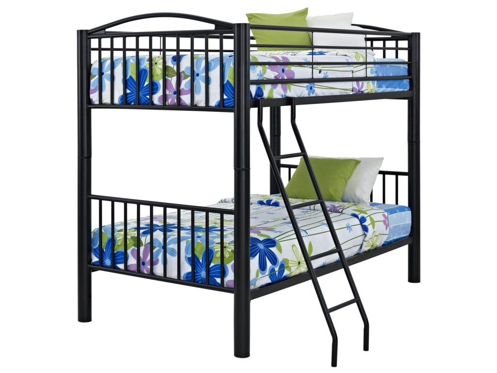Powell Youth Beds and BunksHeavy Metal Twin Over Twin Bunk Bed