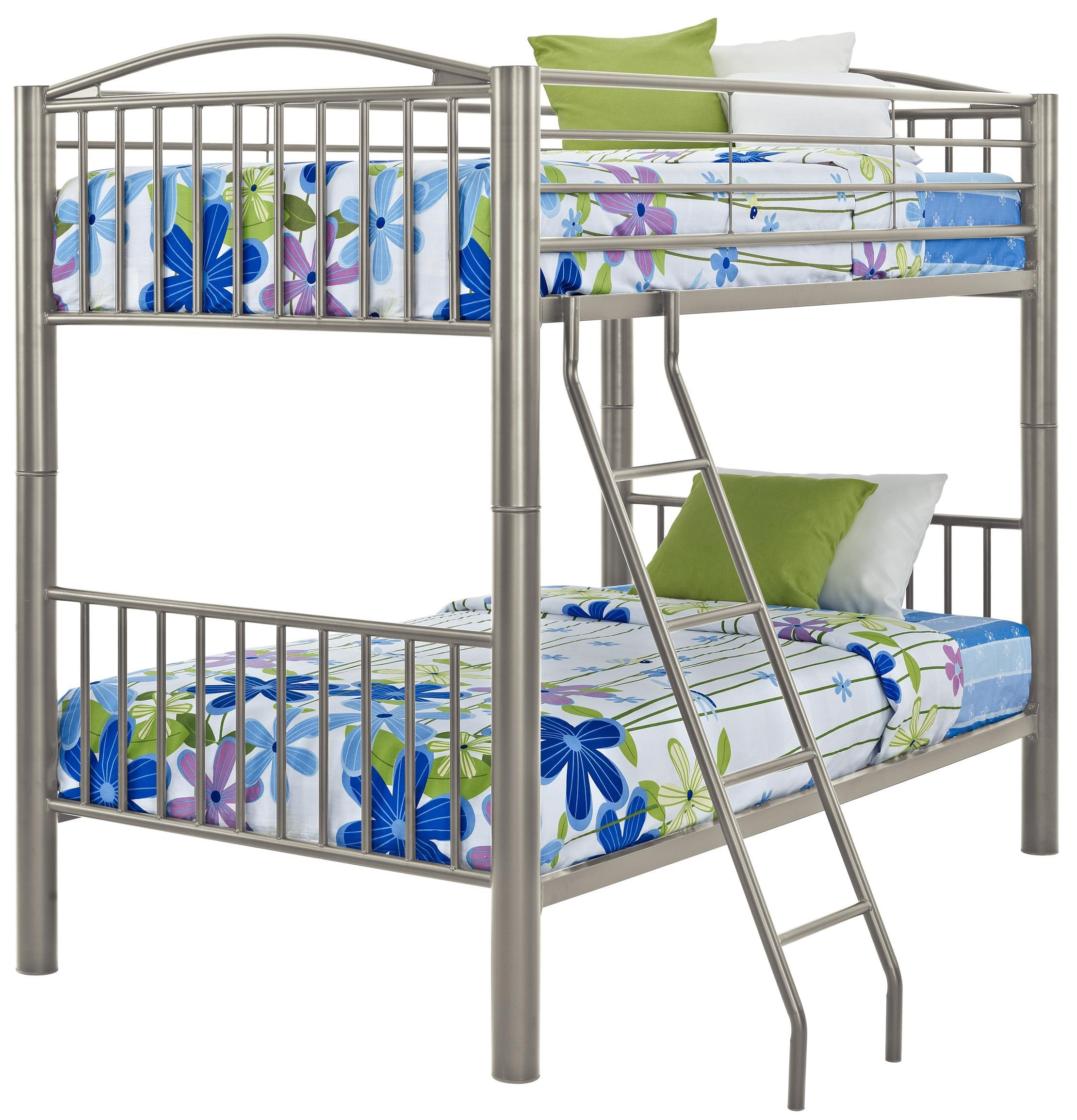 Picture of: Powell Youth Beds And Bunks Heavy Metal Twin Over Twin Bunk Bed Wayside Furniture Bunk Beds