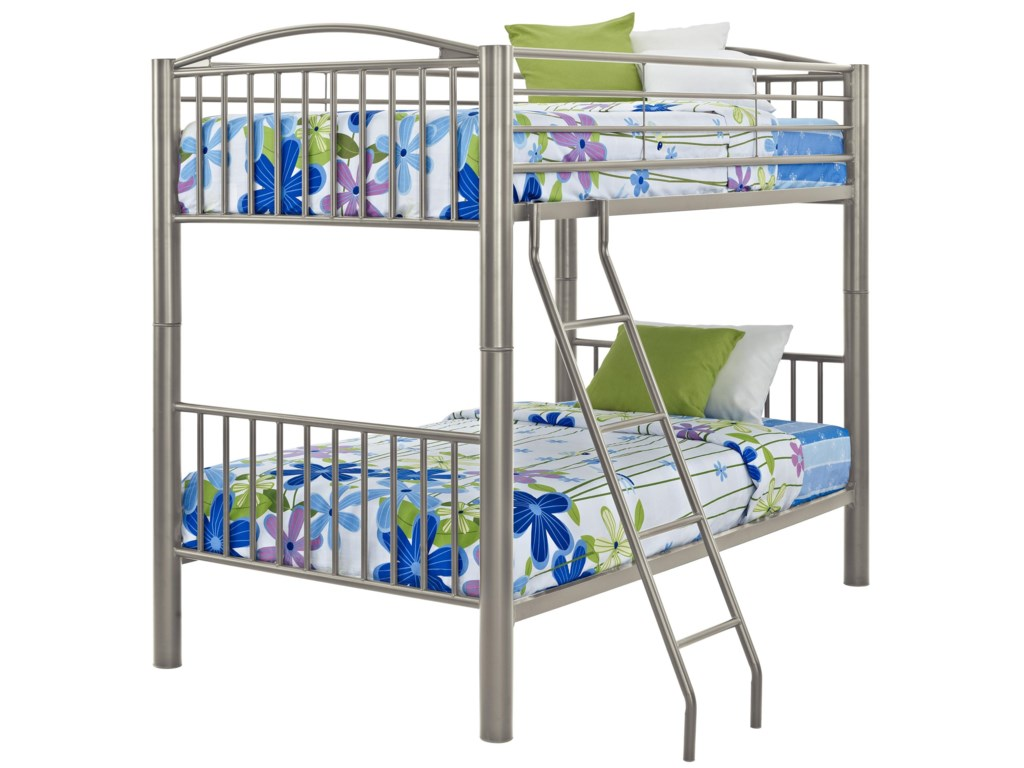 Powell Youth Beds and BunksTwin Metal Bunk Bed
